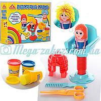 """Набор для лепки """"Парикмахер"""" (тесто для лепки): 3 цвета, фигурка, кресло + аксессуары"""