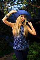 Костюм женский летний с короткими брюками цвет тёмно синий