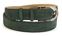 Женский яркий классический кожаный ремень замш 3,5 см Mr&Mrs
