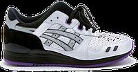 Мужские кроссовки Asics Gel Lyte III (асикс гель) черно-белые