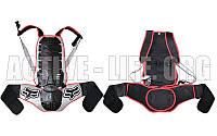 Мотозащита спины с поясничной опорой FOX (PL, пластик, PVC, р-р M-XL, черный)