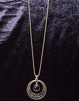 Колье на цепочке в египетском стиле с черными кристаллами