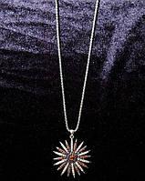 Колье на цепочке Звезда с кристаллами 2 расцветки