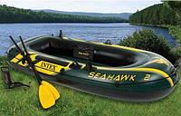 Трехкамерная надувная лодка под мотор Intex 68347 SeaHawk-200 Set