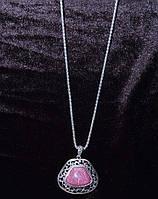 Колье на цепочке в египетском стиле с цветными камнями