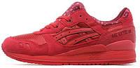 Мужские кроссовки Asics Gel Lyte III (асикс гель лайт 3) красные