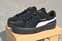 Puma x Rihanna Suede Мужские кроссовки замшевые черно-белые