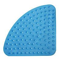 Коврик для ванной антискользящий треугольный голубой AWD02091035