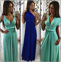 Платье-трансформер длинное в пол разные цвета масло 2MIL474