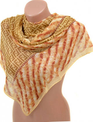 Воздушный женский шифоновый шарф размером 50*160 см Подиум 10995-14 (разноцветный)