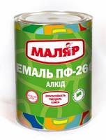 Эмаль ПФ-266 для пола тм МАЛЯР 0,8 кг, 2,4 кг, 45 кг