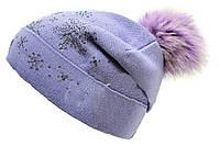 Красивая шапка со стразами