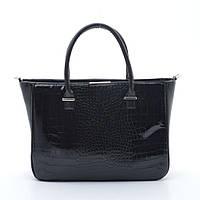 Качественная женская сумка Elit мал. крок. черного цвета