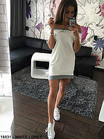 Женское платье свободное белое  р. 42,44,46