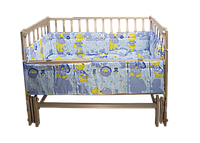 Комплект  в кроватку с бортиками  для новорожденных