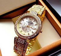 Часы женские Michael Kors золотистые со стразами