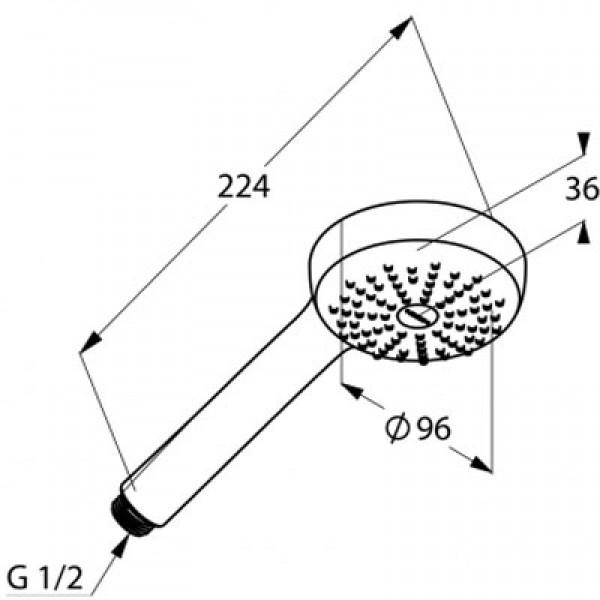 Ручной душ Kludi Logo 1S 681000500