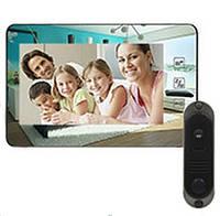 Комплект Домофон PC-938R2 220В (DVC-4Q)  НОВИНКА!! Встроенный блок питания, Зеркальная поверхность!