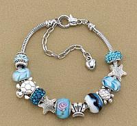 """Красивый женский браслет """"Морской"""" в стиле Pandora. Пандора"""