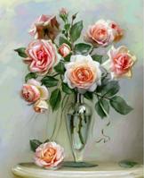 """Картина по номерам Идейка """"Трепетные розы"""" 40х50 см. КН2034"""