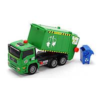 Игрушечные машинки и техника «Dickie Toys» (3805000) мусоровоз с воздушной помпой и мусорным контейнером, 31 см