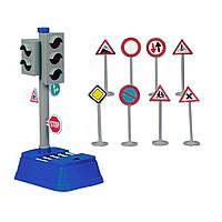 """Игрушечные машинки и техника «Dickie Toys» (3313051) набор """"Светофор и знаки дорожного движения"""""""