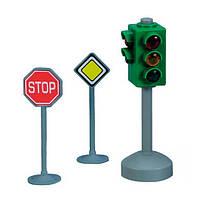 """Игрушечные машинки и техника «Dickie Toys» (3313047) набор """"Светофор и знаки дорожного движения"""""""