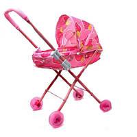 Зимняя коляска 826AL для кукол пластик под металл в пакете 29*64*11см