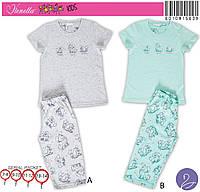 Детская пижама трикотажная футболка и капри производство Турция