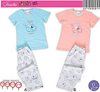 Детский домашний костюм для дома, пижама футболка и бриджи.