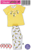 Красивая детская пижама с пчелками футболка и бриджи