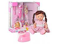 Кукла с набором парикмахера 30701 B 18. Аксессуары, горшок, бутылочка