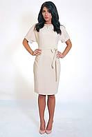 Деловое платье из легкой костюмной ткани, фото 1