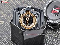 Часы мужские наручные Casio G-Shock GD-100 Черные с золотом