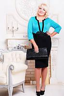 Трикотажное платье Анжелика большие размеры 50-58