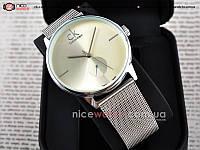Часы наручные женские серебряные Calvin Klein металлические копия