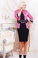 Трикотажное платье Лотос большие размеры 52-62