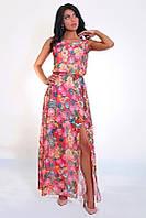 Молодежный сарафан с красивым веточным принтом, фото 1