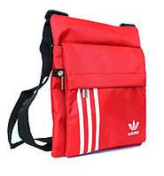 Спортивная сумка через плечо Adidas красная (076)