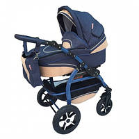 Универсальная детская коляска 2 в 1 Anmar Ramzes голубой / капучино