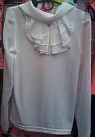 Белая блузка для девочки 1-6 классы опт и розница S945