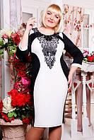 Трикотажное платье Джулия большие размеры 50-58