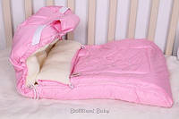 Зимний чехол в санки розового цвета с котиком