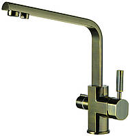 Смеситель с подключением фильтрованной воды 2 в 1 Kaiser Decor 40144-1 Старая бронза