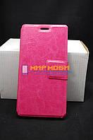 Чехол-книжка PU кожа кожаный Prestigio MultiPhones 3527 Wize NK3 Розовый