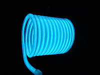 Холодный неон—бирюза,электролюминесцентный провод 3-го поколения 5 мм, (розница, опт)