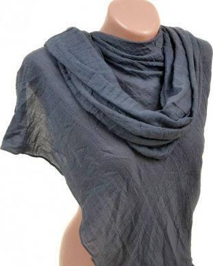 Интересный хлопковый шарф размером 180*85 см Подиум 3410 L (темно-серый)