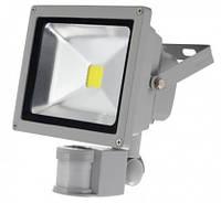 Светодиодный прожектор 1LED LL-242 30W с датчиком движения 6000К IP65