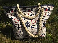 Пляжная сумка Якоря