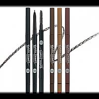 Супертонкий карандаш для бровей со встроенной щеточкой Holika Holika Wonder Drawing Skinny Eyebrow  - #03 Light Brown